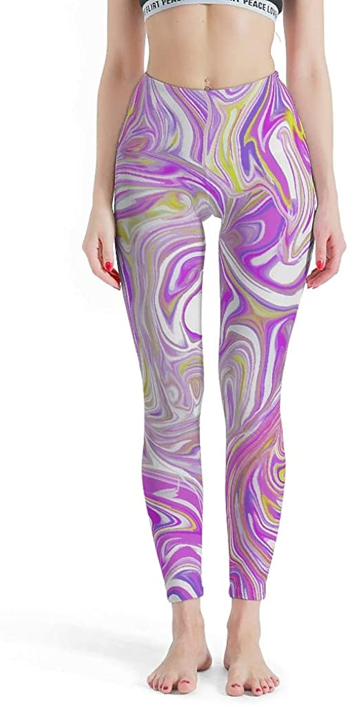 HAPPYCAT Womens Tummy Control Yoga Legging Lines Extra Long Legging Pants for Girls