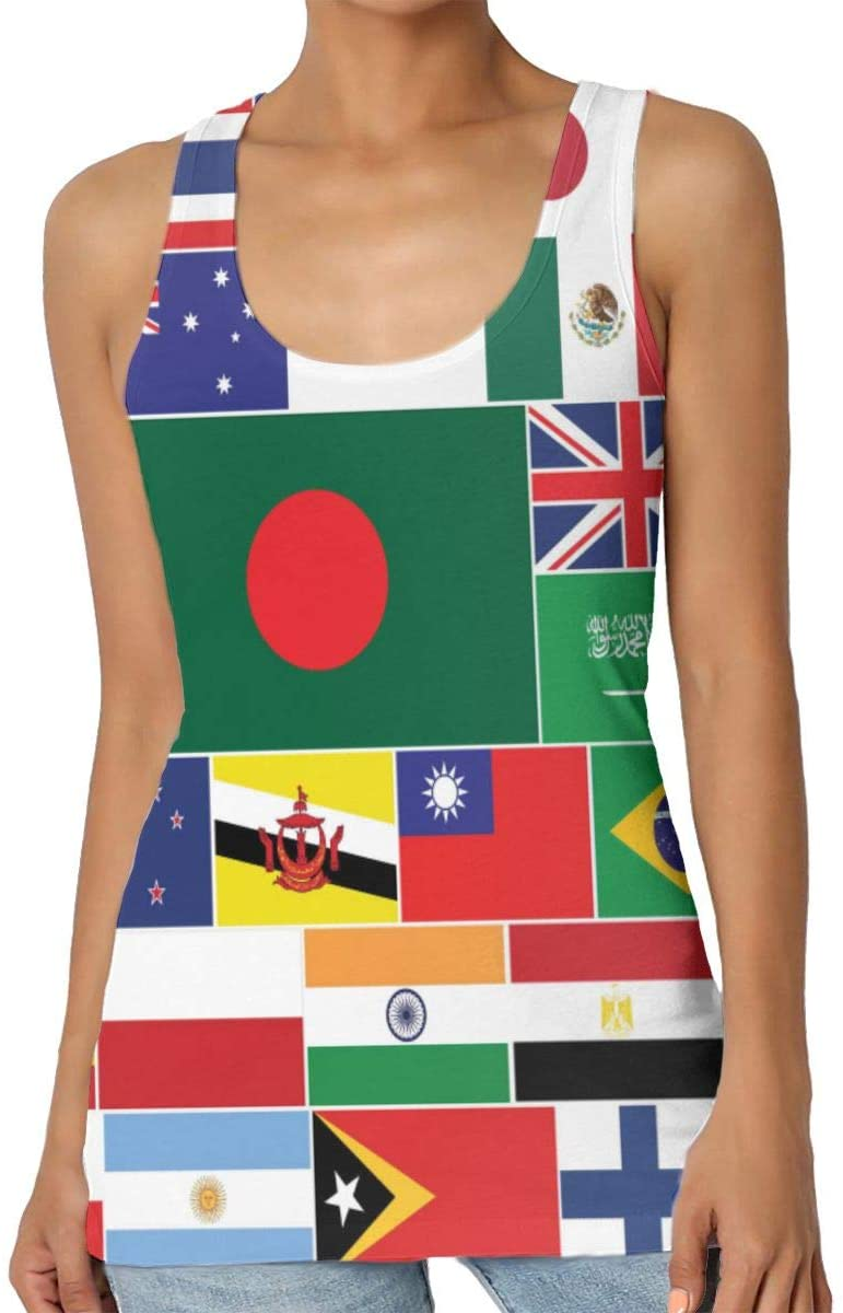 Yongchuang Feng National Flag of The World Women's Tank Top T-Shirt Funny Sleeveless Vest