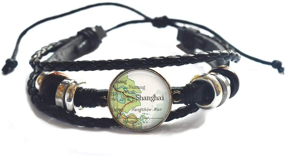 Shanghai map Bracelet, Shanghai map Bangle China Adoption Jewelry map Jewelry Gift for Adoptive Parents,N300