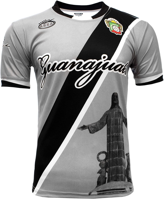 Guanajuato Mexico Soccer Jersey Color Black and Gray Arza Design