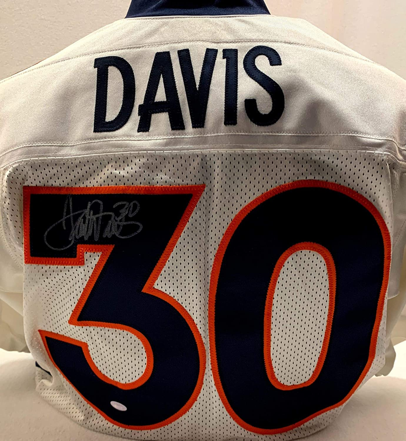 Terrell Davis Signed Jersey - White Nike - Autographed NFL Jerseys