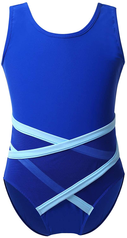 CHICTRY Girls Kids Gymnastics Leotard Elegant Ribbons Tumbling Jumpsuit Practice Dancewear with Tie Back