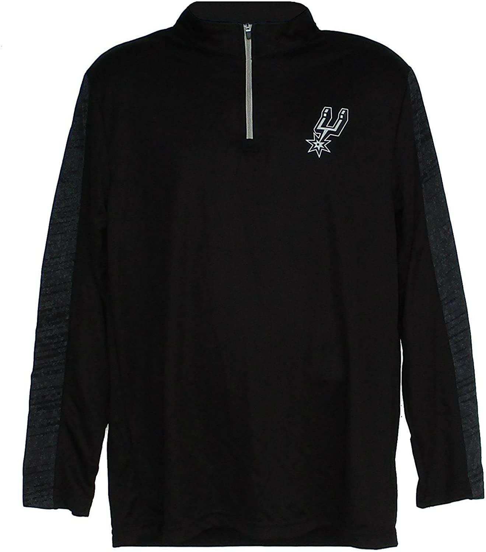 San Antonio Spurs Men's Small 1/4 Zip Pullover Shirt - Black