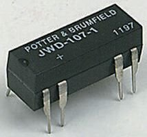 TE CONNECTIVITY / POTTER & BRUMFIELD JWD-107-5 DRY REED RELAY, SPST-NO, 6VDC, 0.5A, THD (100 pieces)