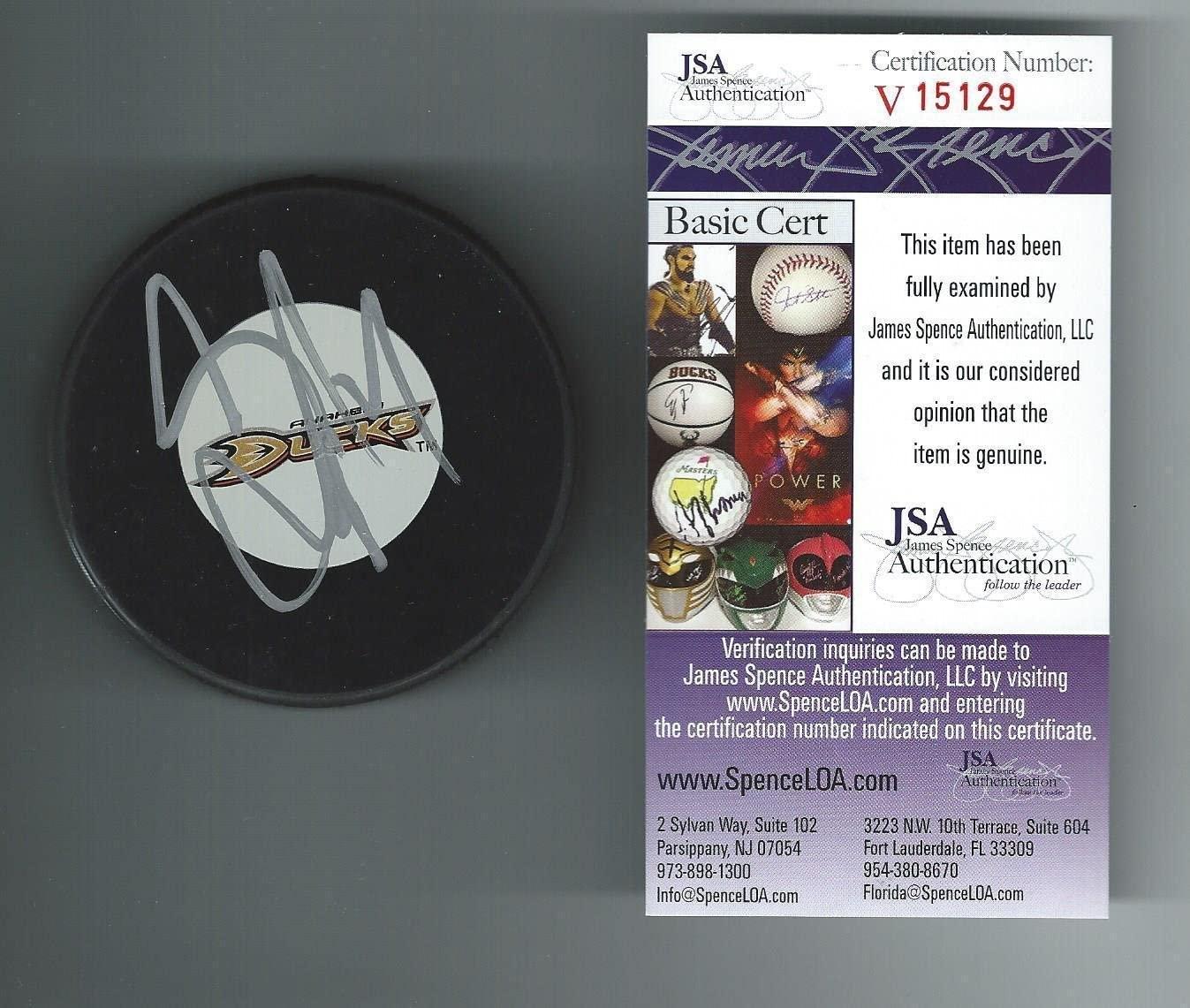 Autographed Scott Niedermayer Hockey Puck - Authenticated V15129 - JSA Certified - Autographed NHL Pucks