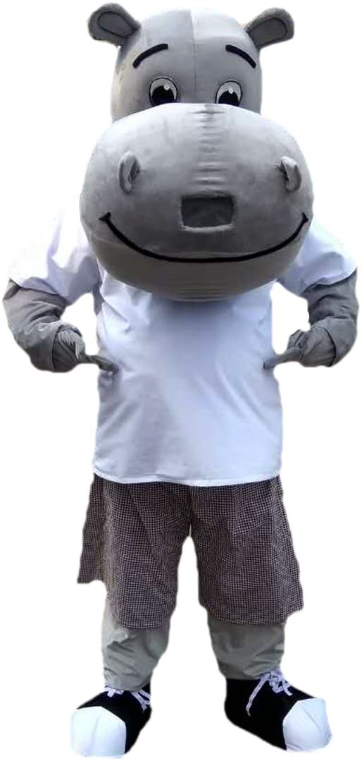 Langteng Gray Hippo Cartoon Mascot Costume Real Picture 15-20days delivery Brand