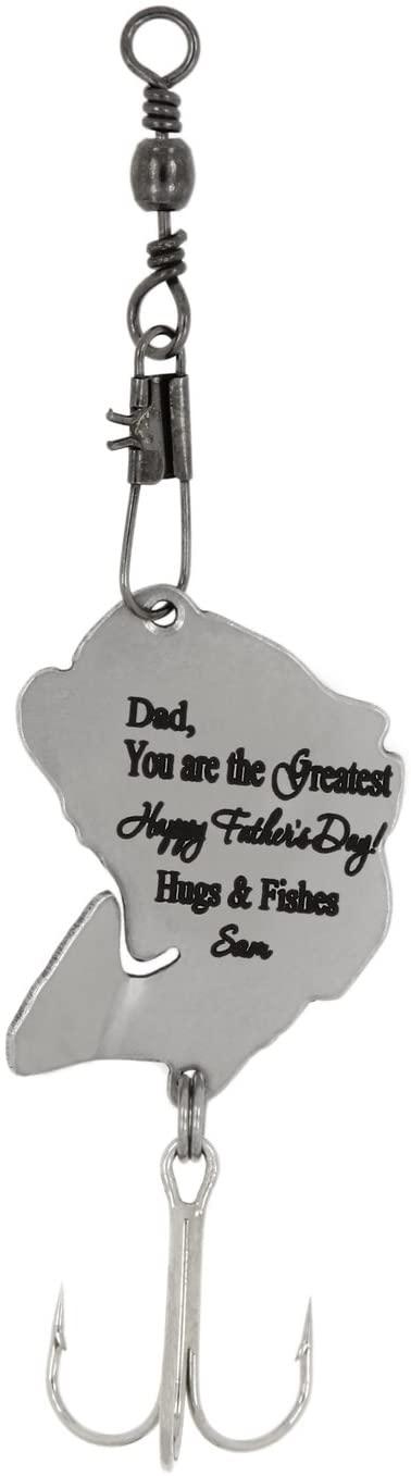 Lgu TM Monogram Personalized Customize Fishing Hook Fishing Lure Spoon Lure - Father's Day Theme