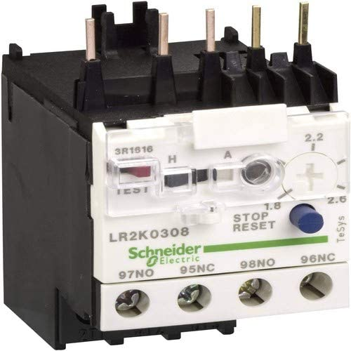 LR2K0308-Electronic Overload Controller, TeSys K IEC, 1.8 A, 2.6 A