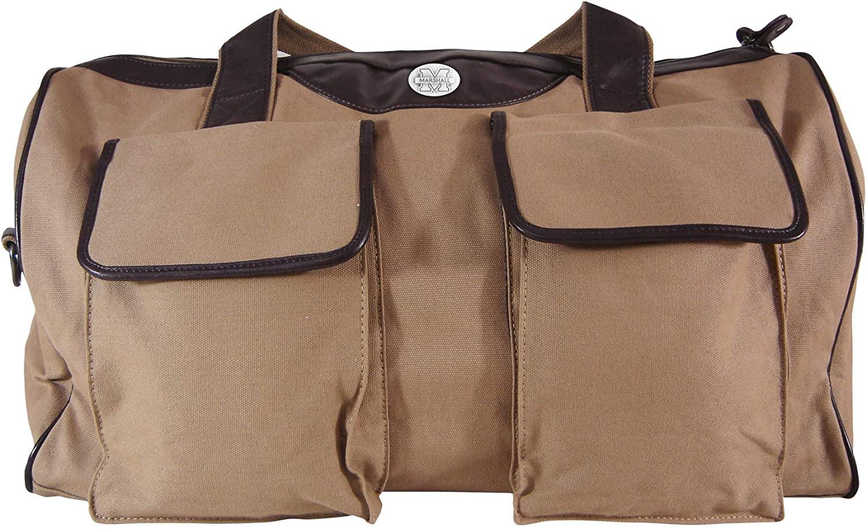 NCAA Marshall Thundering Herd Mens Canvas Concho Duffel Bag, Khaki, One Size