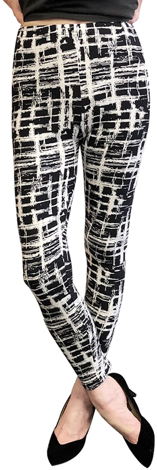 Wrapables Women's Ultra-Soft and Stretchy Printed Leggings for Activewear and Workout