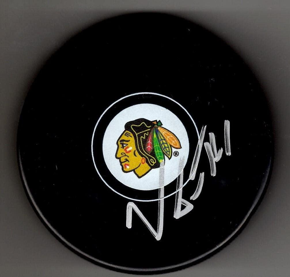 Viktor Tikhonov Signed Puck - Chicago Blackhawks - Autographed NHL Pucks