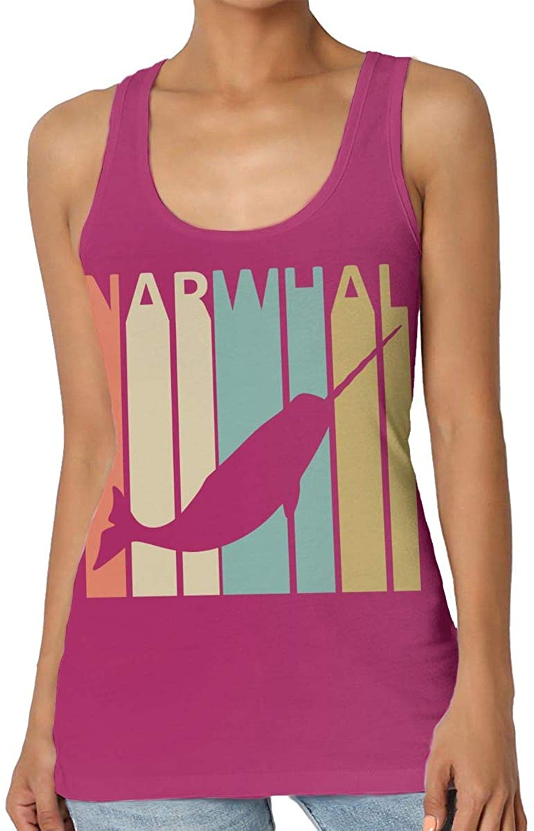 Vintage Style Narwhal Womens Tank Top T-Shirt Retro Sleeveless Vest