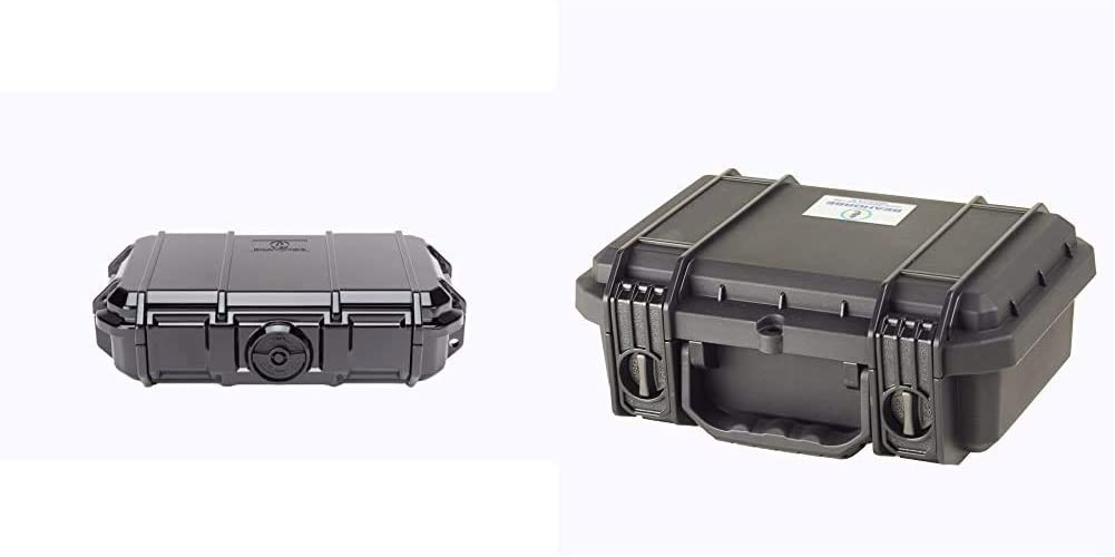 Seahorse 56 Micro Case, Black (SE56, BK) & 230 Medium Tactical Case with Foam, Black