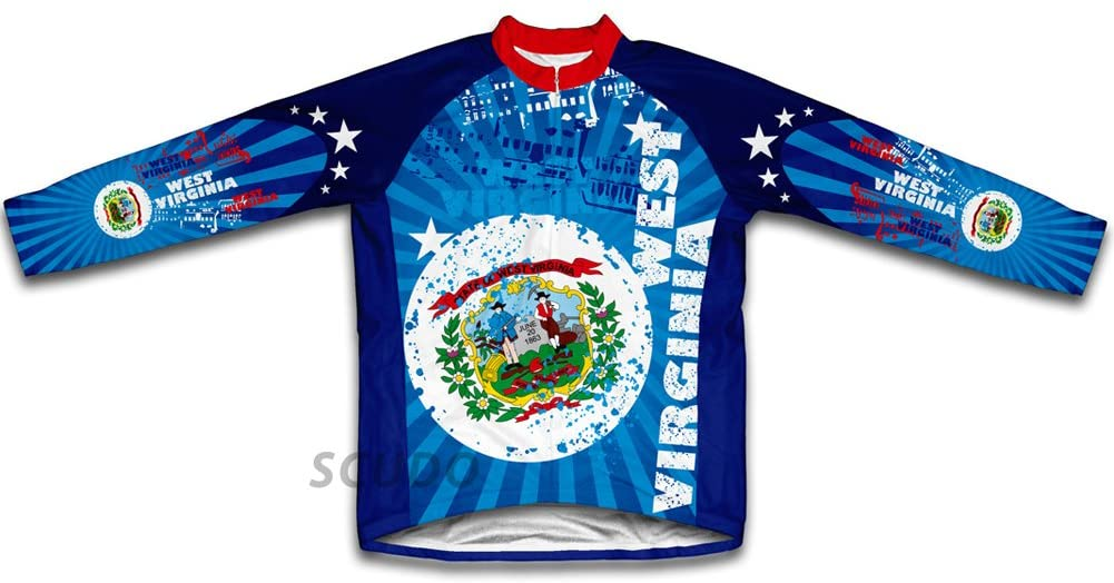 ScudoPro West Virginia Winter Thermal Cycling Jersey for Men