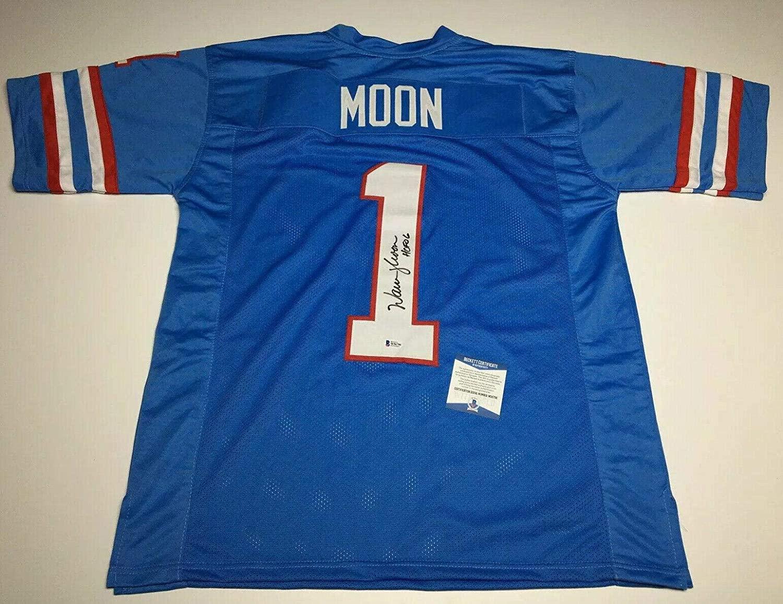 Warren Moon Signed Houston Oilers Football Jersey