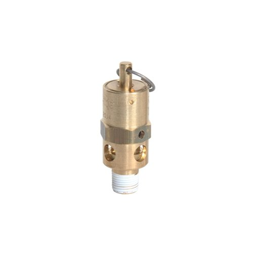 Midwest Control SRH18-75 ASME Hard Seat Safety Valve, 75 psi, -65 Degree F - 400 Degree F Temperature Range, 1/8