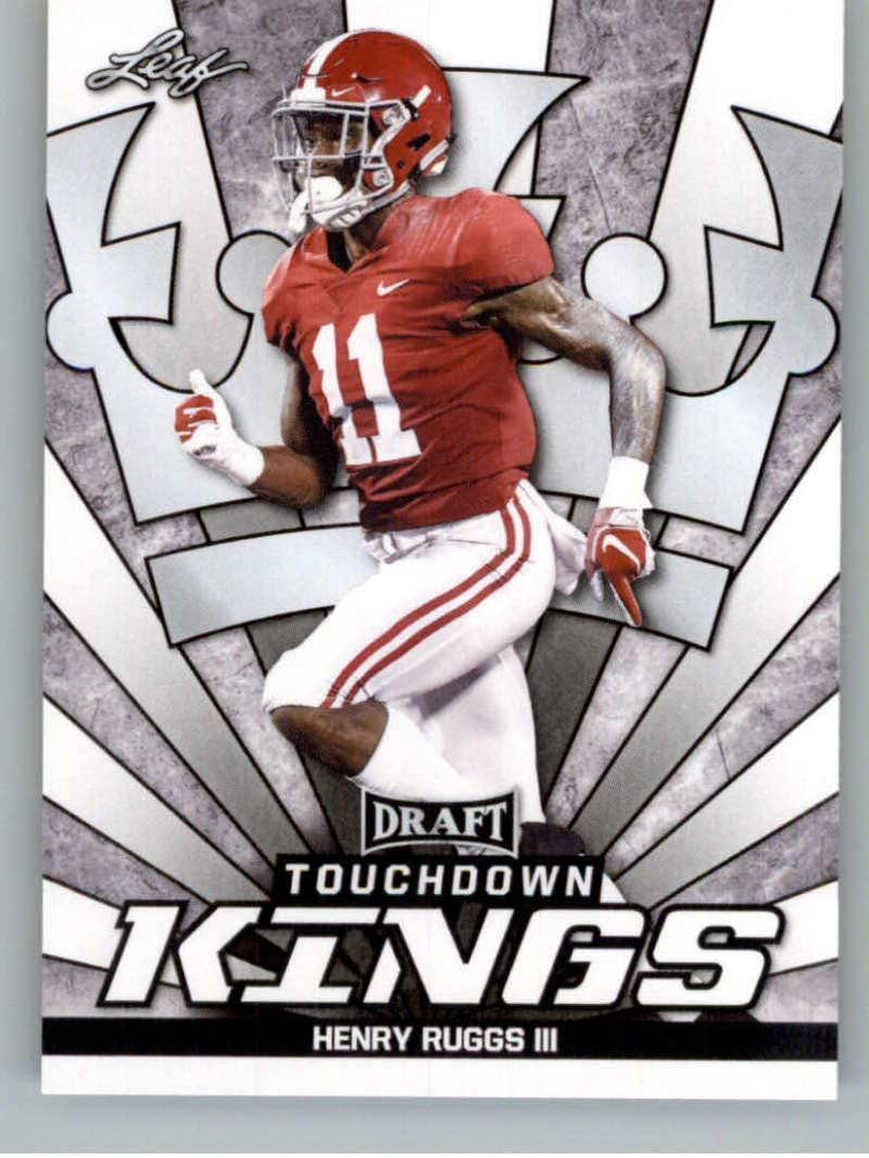 2020 Leaf Draft #79 Henry Ruggs III RC - Alabama Crimson Tide (Touchdown Kings)(RC - Rookie Card) NM-MT NFL Football Card