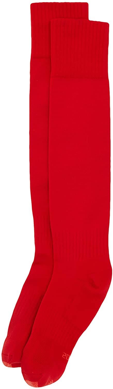 Mitre Mercury Plain Football Sports Sock (Scarlet, (Mini / 12-2))