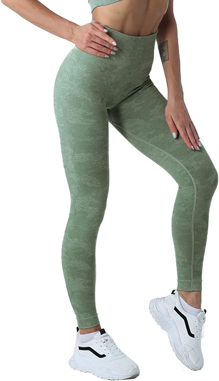 Saejous Seamless Leggings Women's High Waist Yoga Camo Workout Fitness Gym Pants