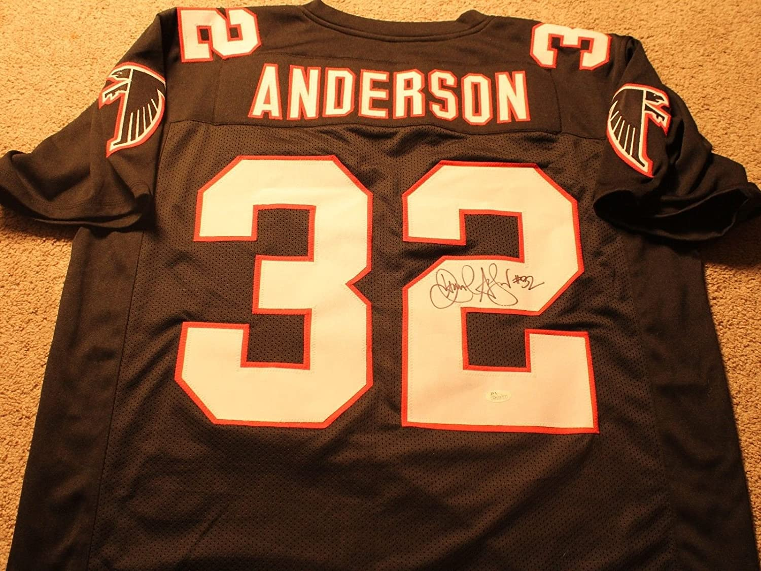Jamal Anderson Autographed signed Atlanta Falcons Jersey
