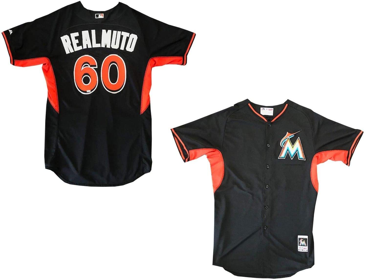 Jacob Realmuto Unsigned Game Used Miami Marlins Warm Up Jersey (MLB) - MLB Game Used Jerseys