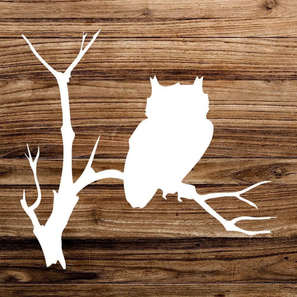 Owl On Branch Vinyl Sticker Graphic Bumper Tumbler Decal for Vehicles Car Truck Windows Laptop MacBook Phone Wall Door