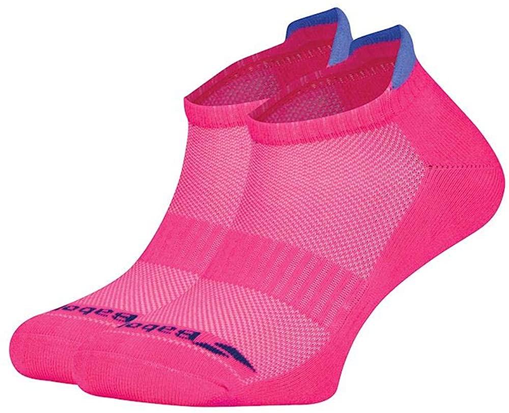 Babolat Womens invisible 2 pairs socks 3.5/5.5, fandango pink/wedgewood