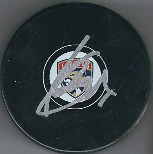 Autographed Sergei Bobrovsky Florida Panthers Hockey Puck