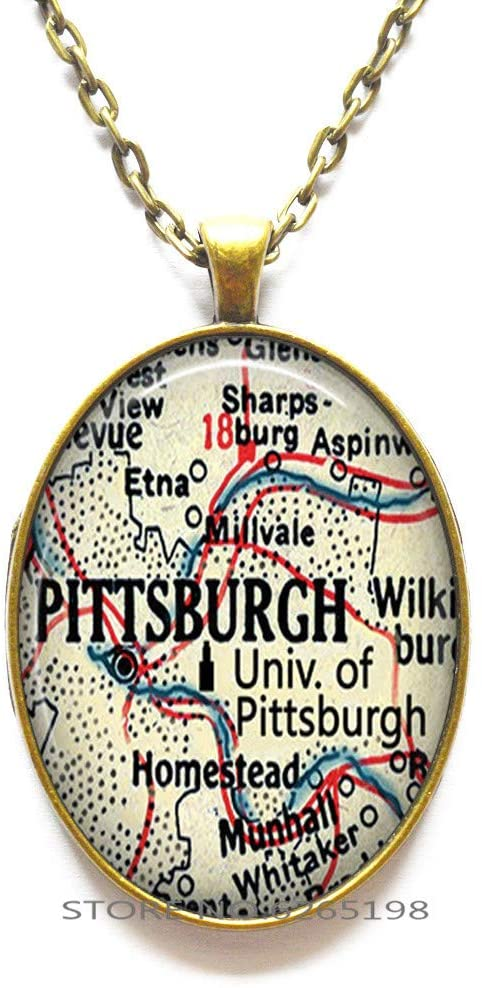 University of Pittsburgh Necklace, Gift for Pitts Fan Alumni or Student Gift Graduation Gift College map Pittsburgh Necklace,N330