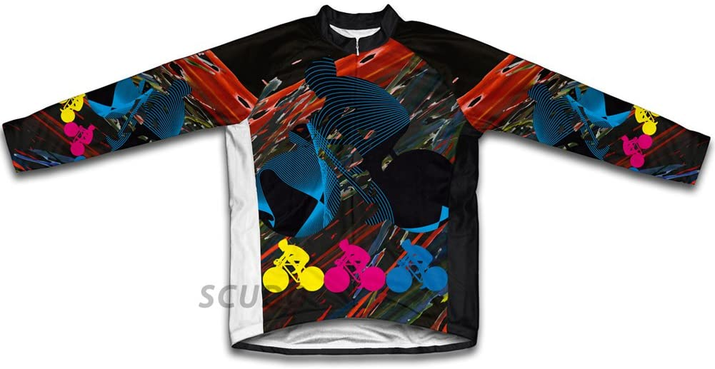 ScudoPro Biker Chaos Winter Thermal Cycling Jersey for Men