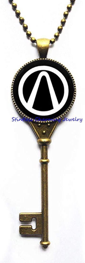 stintless charming Jewelry Game Key Necklace Pendant Wedding Best Man,Art Picture Pendant,Best Friend,Love, Friendship Key Necklace-JV58