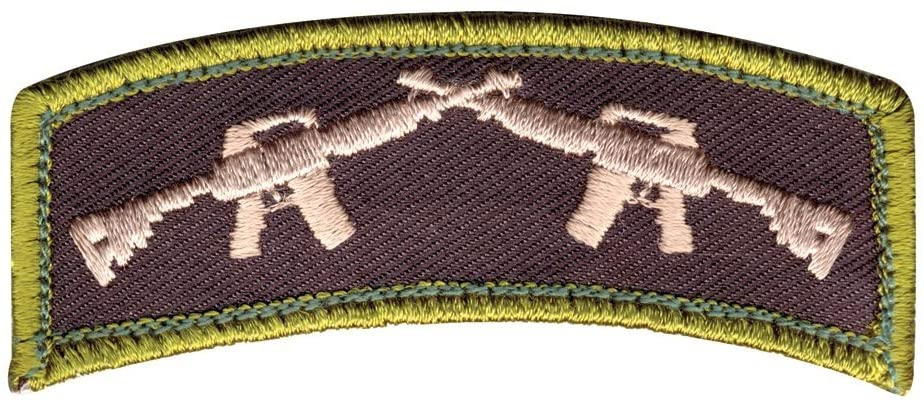 Rothco Crossed Rifles Patch with Hook Back