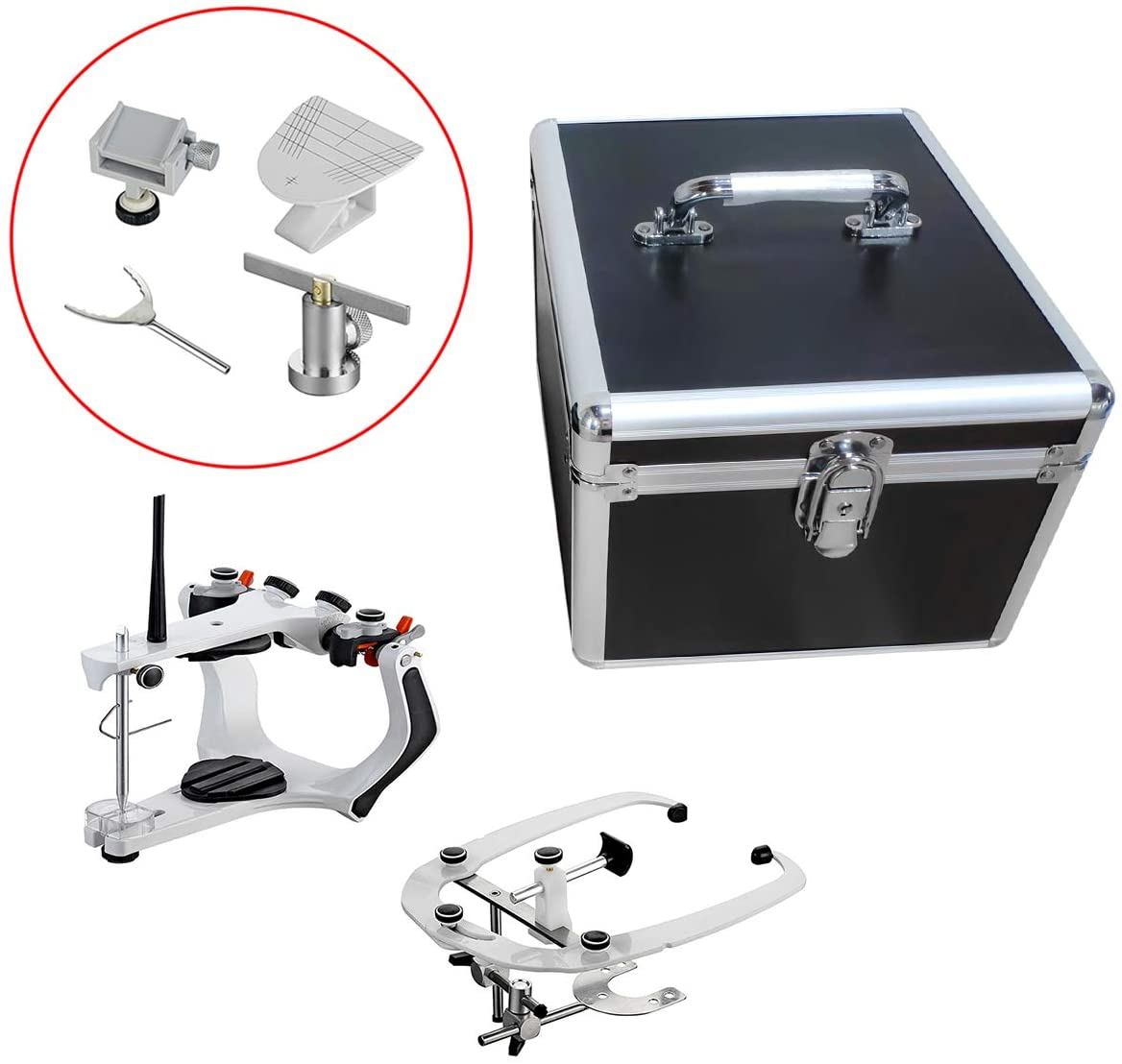 SoHome Dental High Precision Semi-Adjustable Articulator with Standard Face-Bow and Aluminum Box XG-A01