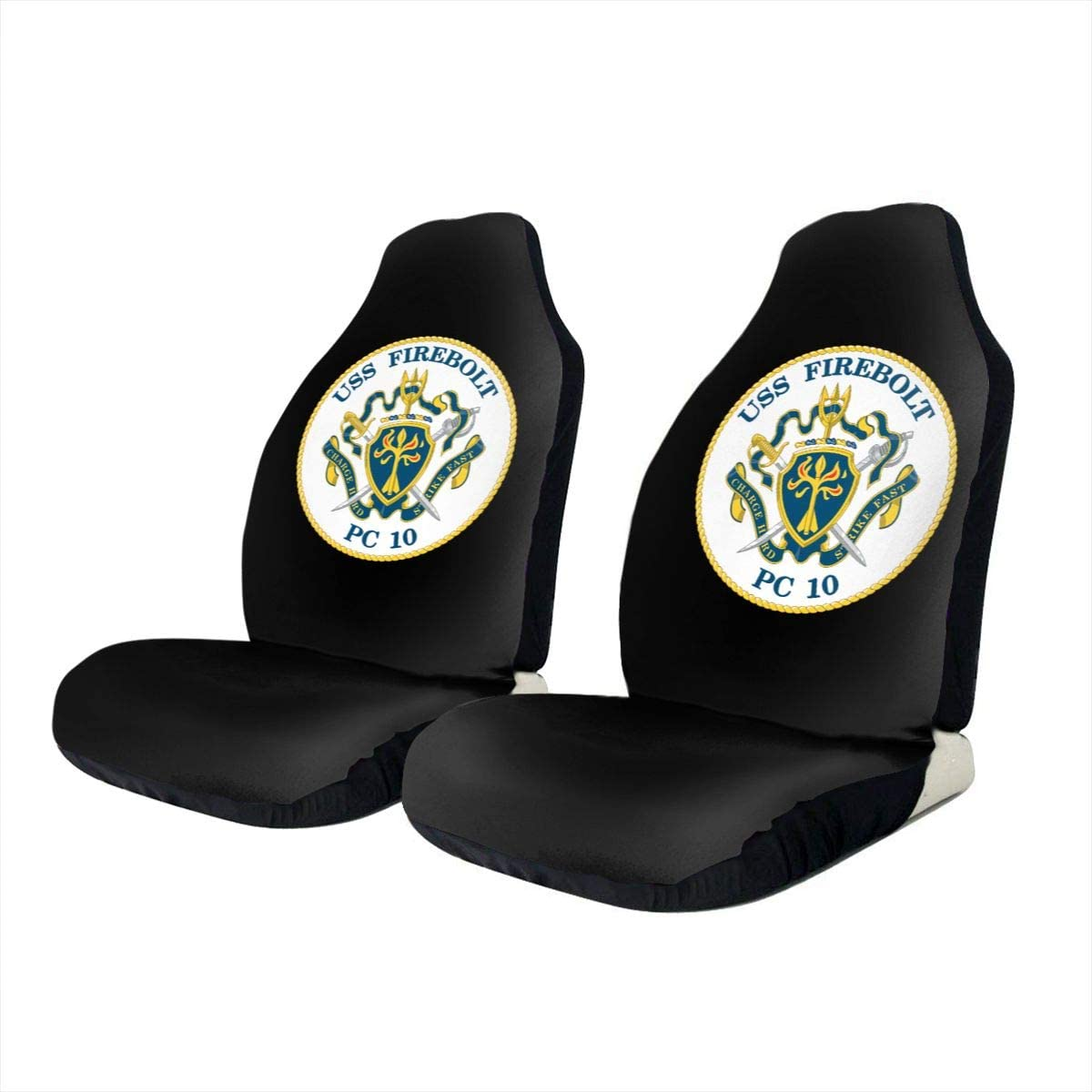 KEEDCE&FJE Navy USS Firebolt PC-10 Universal Car Seat Cover Car Seat Covers Protector for Automobile Truck SUV Vehicle