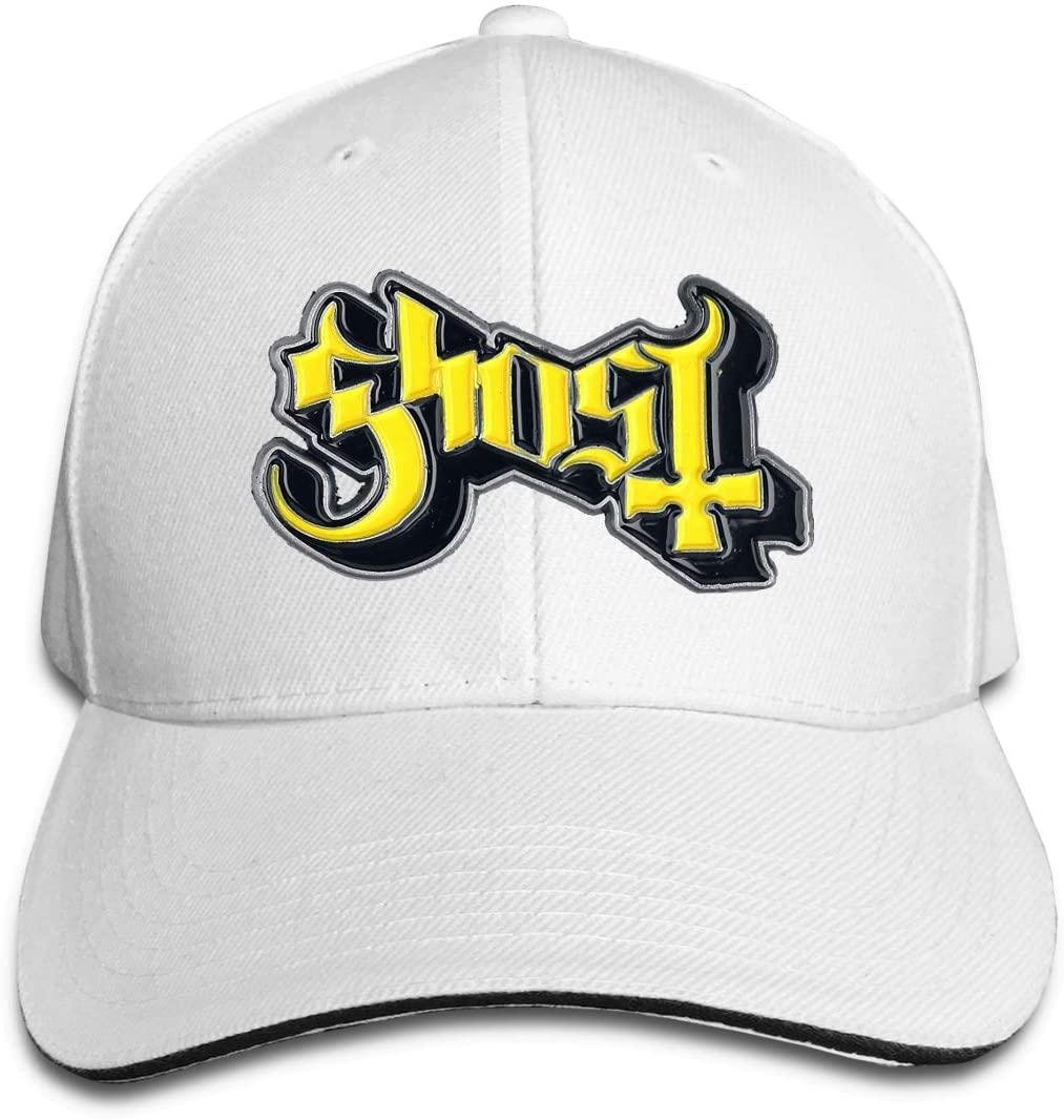 IASIFD Gh-o-st Unisex Flex-fit Hat Hip Hop Baseball Cap Sun Hat Outdoor Cap White