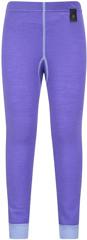 Mountain Warehouse Merino Kids Leggings - Girls Wool Base Layer Pants