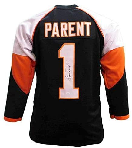 Signed Bernie Parent Jersey - Black COA) - JSA Certified - Autographed NHL Jerseys