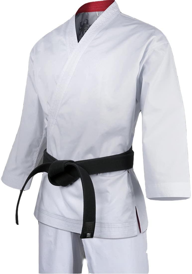 Mooto Korea Taekwondo Grand Master Geum Gang White WH-Neck Uniform MMA Martial Arts Master Uniforms Dobok School Gym Academy