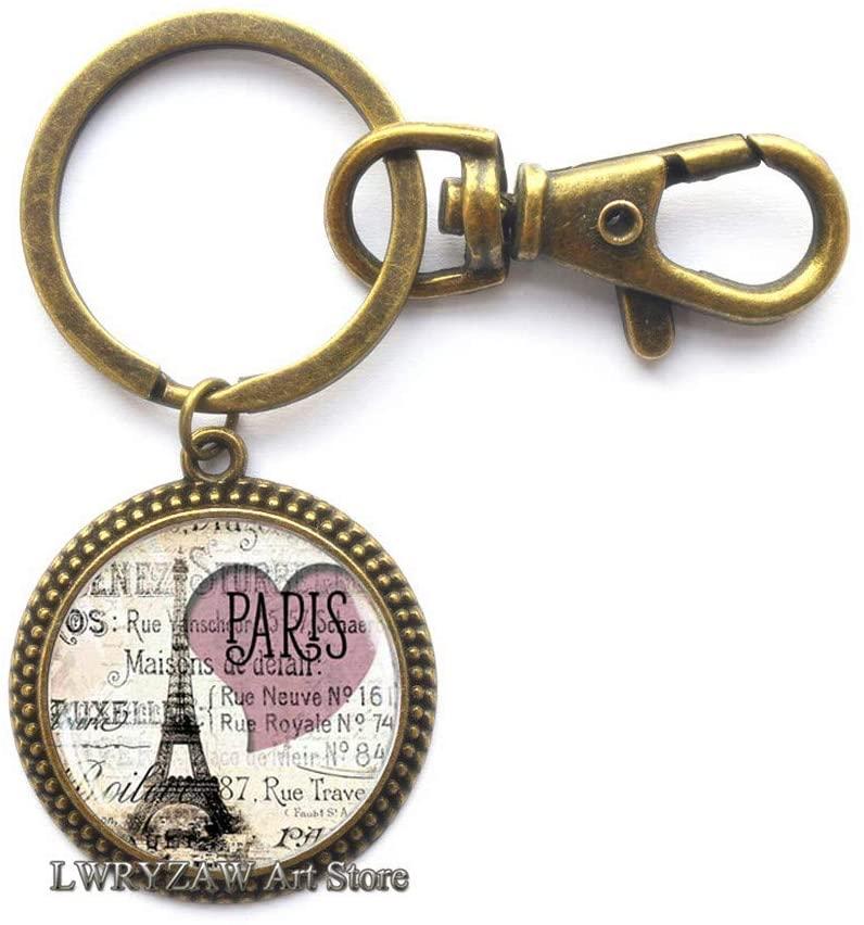 Tower Keychain, Paris Keychain,Tower Jewelry, Paris Keychain, Paris Jewelry, Paris Key Ring,Minimalist Keychain,Dainty Keychain,M152
