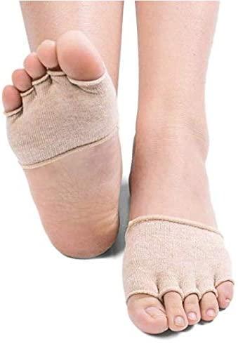Toe Socks Women's Toe Toppers Socks No-Show Liner Socks Half Socks Non-Slip Boat Socks Barre Pilates Yoga Half Palm Socks Toe Cover Socks High Heeled Slip On Toe Sock Toe Covers