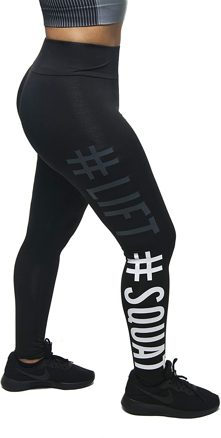 Driplink High Waist Thin Layered Active Lift Squat Leggings