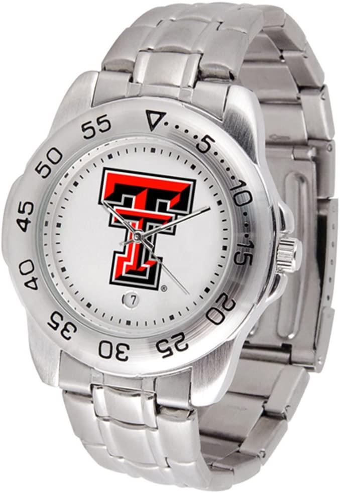 Linkswalker Mens Texas Tech Red Raiders Sport Steel Watch
