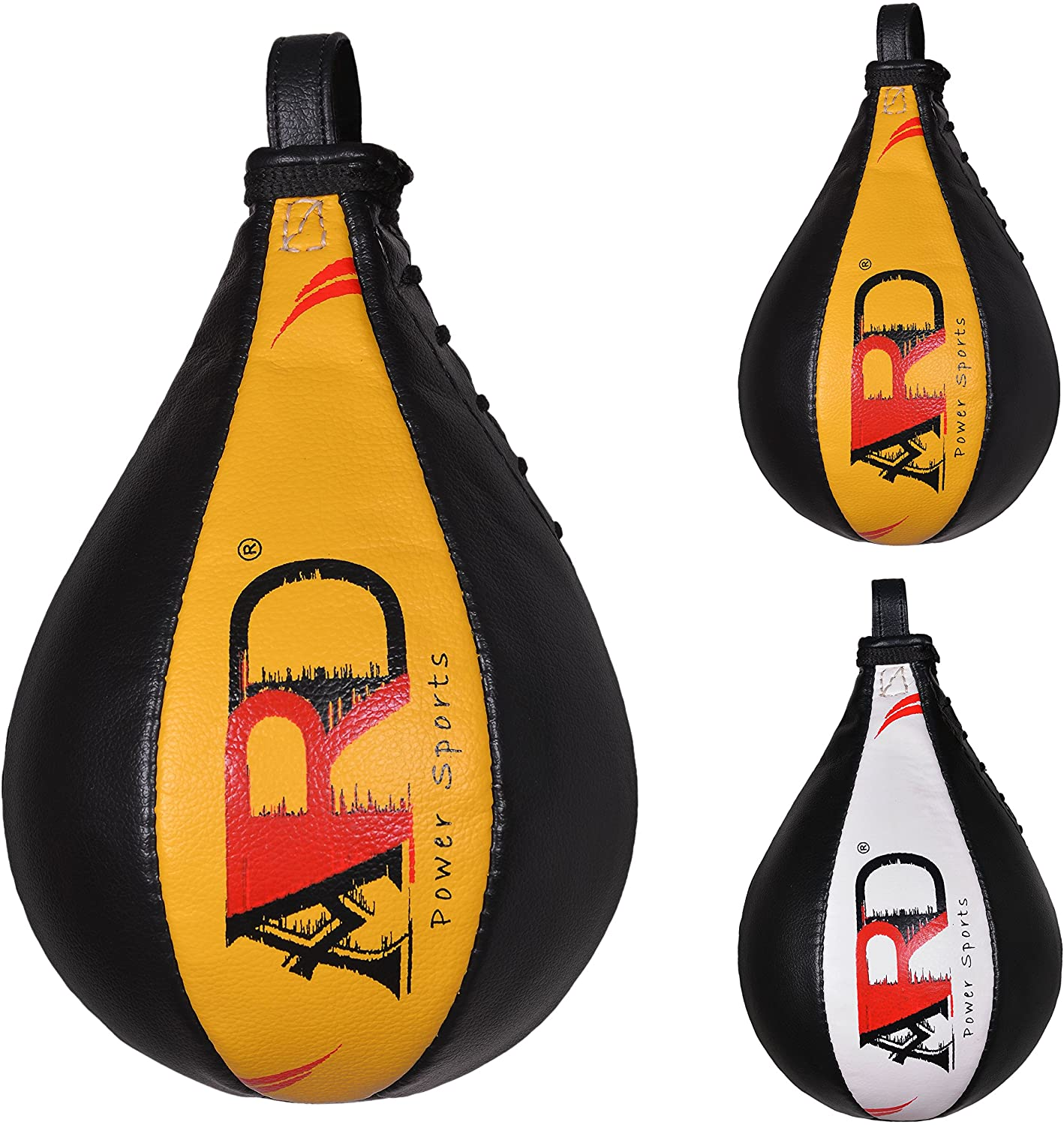 ARD Leather Speed Ball Boxing Punch Bag Punching Pear Training MMA