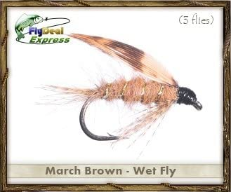 Fly Fishing Flies - March Brown Wet Fly - Wet Fly (3-Pack)