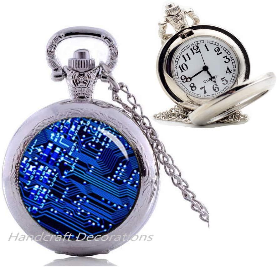 Circuit Board Jewelry,Geek Pendant,Circuit Board Pocket Watch Necklace,Best friend Pocket Watch Necklace,Simple Pocket Watch Necklace,Everyday Pocket Watch Necklace,Gorgeous Pocket Watch Necklace.F079