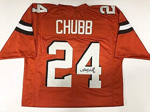 Nick Chubb Cleveland Browns Signed Orange Jersey - PSA Authentic