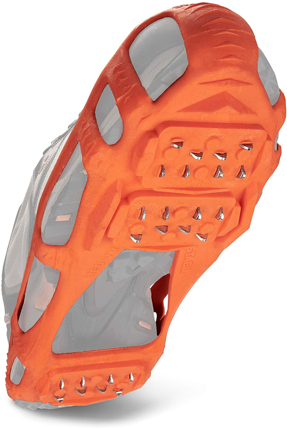 STABILicers Walk Traction Cleat for Walking on Snow and Ice, Orange, X-Large (1 Pair)