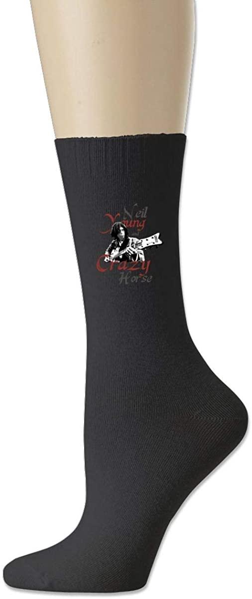 Neil-Young Cotton Socks Moisture Control Crew Socks For Men Women