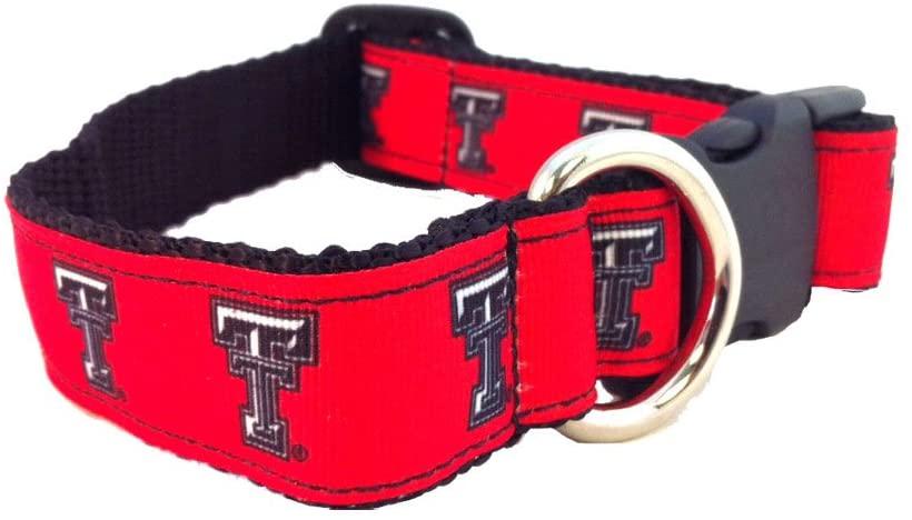 NCAA Texas Tech Red Raiders Dog Collar (Team Color, Medium)