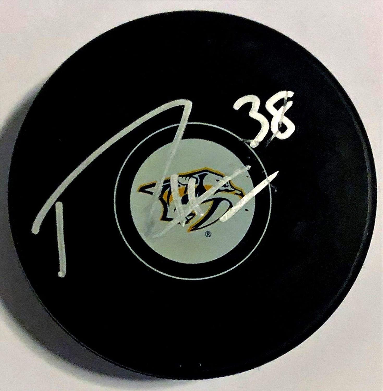 Ryan Hartman Autographed Puck - w COA 2019 - Autographed NHL Pucks